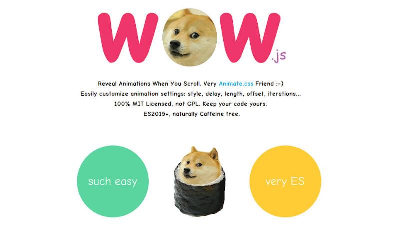 Animaciones con WowJS en Odoo